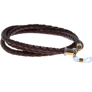 Glasögonsnöre – Läderrem 5 mm brun