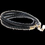 Glasögonsnöre – Läderrem 5 mm Svart