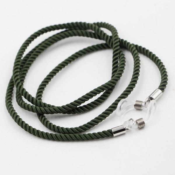Glasögonsnöre Textil – Grön