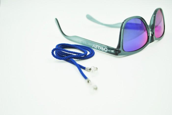 Glasögonsnöre textil blå