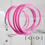 Senilsnöre textil – rosa