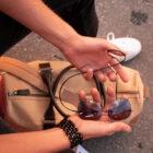 Glasögonsnöre läder platt