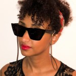 glasögonsnöre svart dubbel