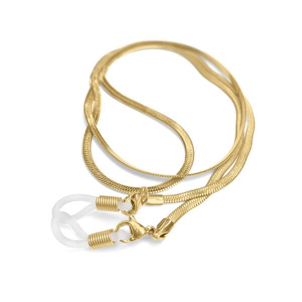 Glasögonsnöre Olivia Twist - Guld