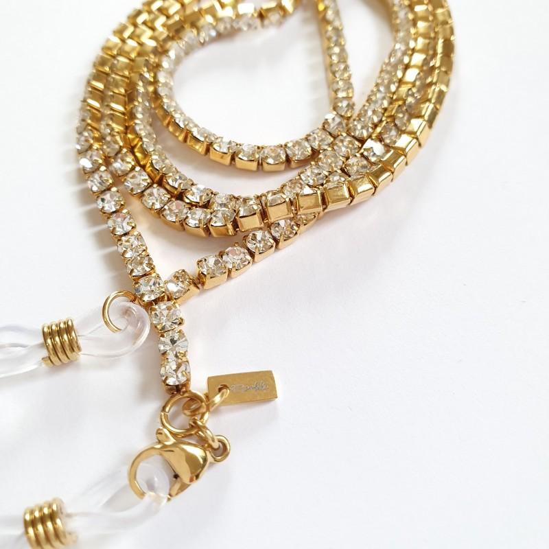 Glasögonsnöre Jiggy with it  gold