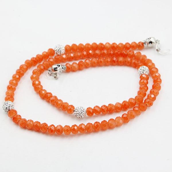 Glasögonsnöre döskalle orange